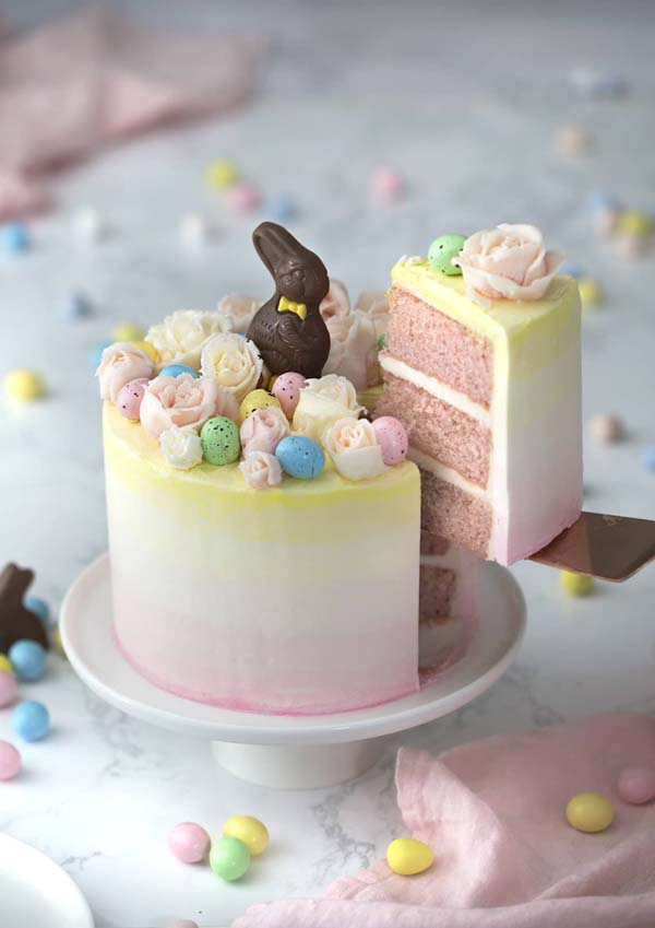 Perfect Easter Bunny Cake #Easter #desserts #recipes #trendypins