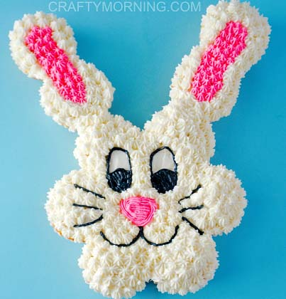 Pull Apart Easter Bunny Cupcakes #Easter #desserts #recipes #trendypins
