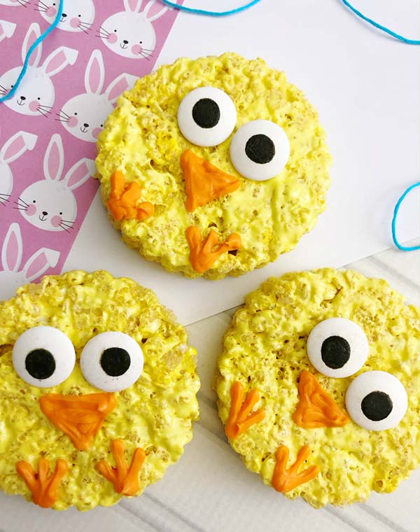 Rice Krispie Easte -Chicks #Easter #treats #recipes #trendypins