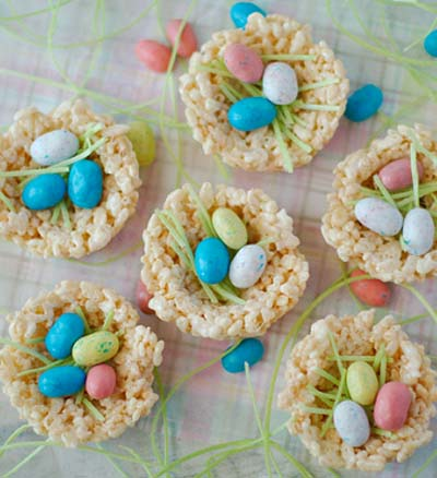 Rice Krispie Nests #Easter #treats #recipes #trendypins