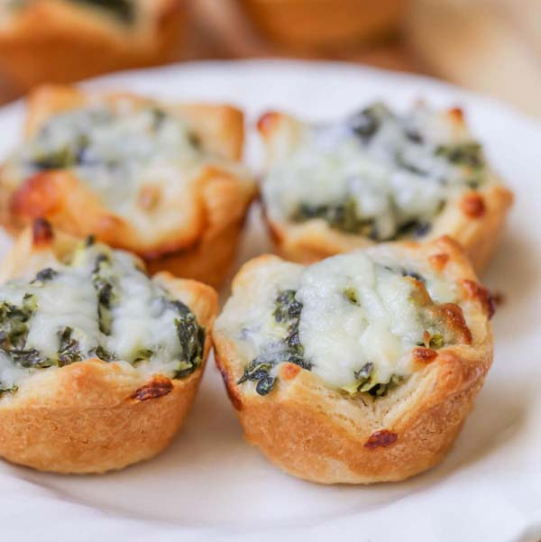 Spinach Dip Bites #Easter #dinner #recipes #trendypins