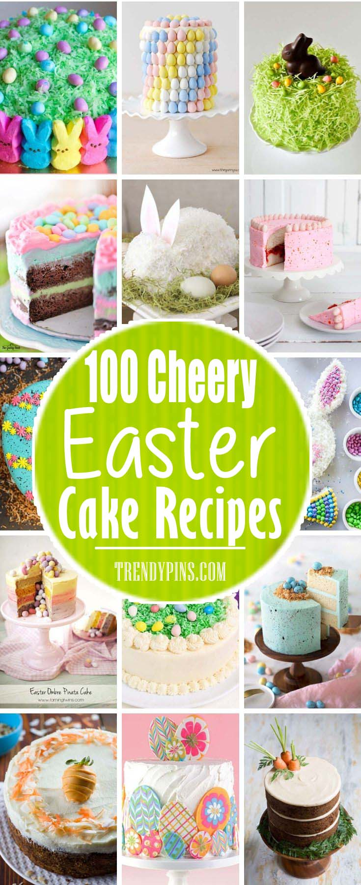 Easter cakes are more than just a delicious snack. They can be a delicious snack that is also a decoration for your holiday party. They are made from delicious ingredients and bright beautiful colors. Check out these Easter cake ideas. #Easter #cakes #recipes #trendypins