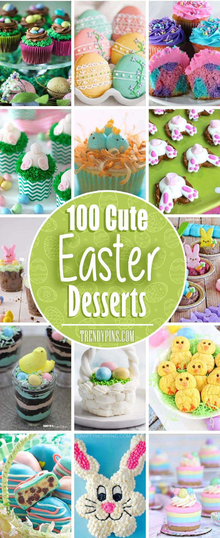 Desserts are the best part of any holiday. Try one of these great ideas for an Easter dessert #Easter #desserts #recipes #trendypins