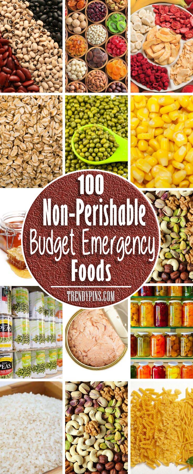 "Keeping these items in stock will help you save time and minimize effort the next time you're asked that perennial question: ""what's for dinner?"" #non-perishable foods #foods #trendypins"