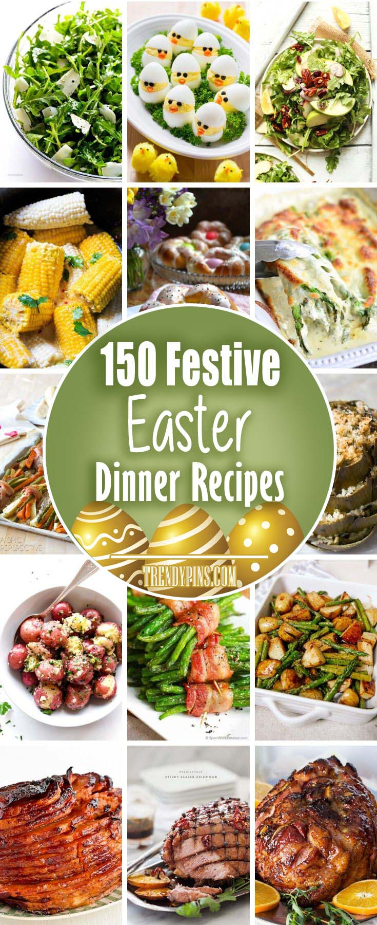 There are a few great ideas that can help you have a big wonderful Easter dinner. Try one of these ideas. #Easter #dinner #recipes #trendypins