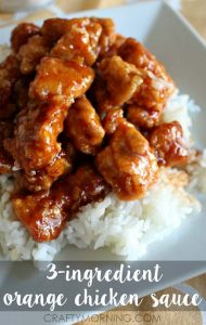 3 Ingredient Orange Chicken With Rice