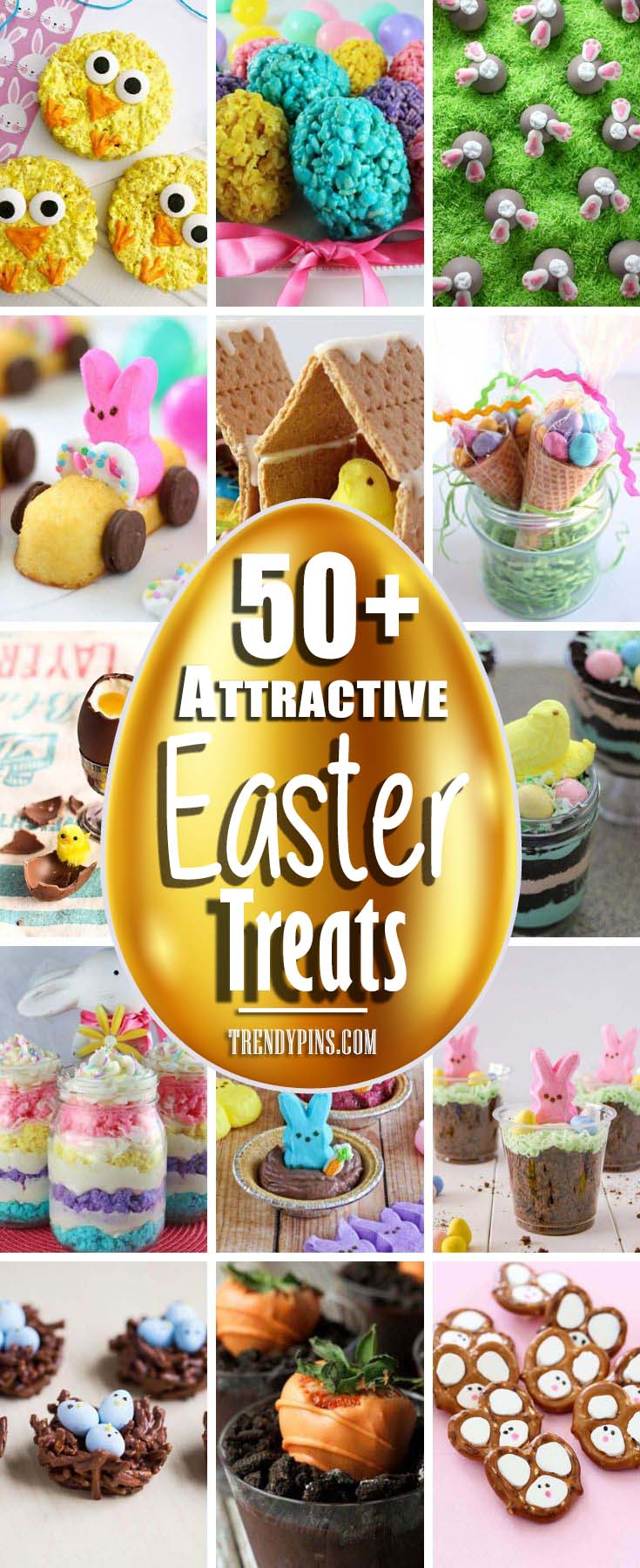 Chocolate and cookies are all treats that are often made and enjoyed at Easter time. Check out these delicious Easter treats. #Easter #treats #recipes #trendypins