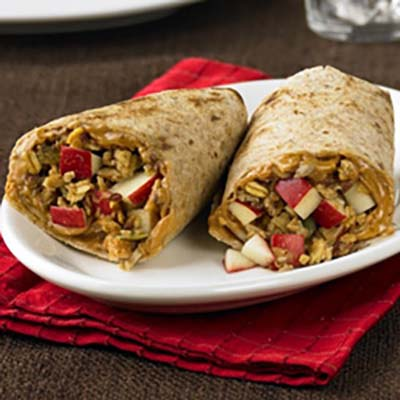 Apple and Peanut Butter Wrap #pantry #staple #recipes #trendypins