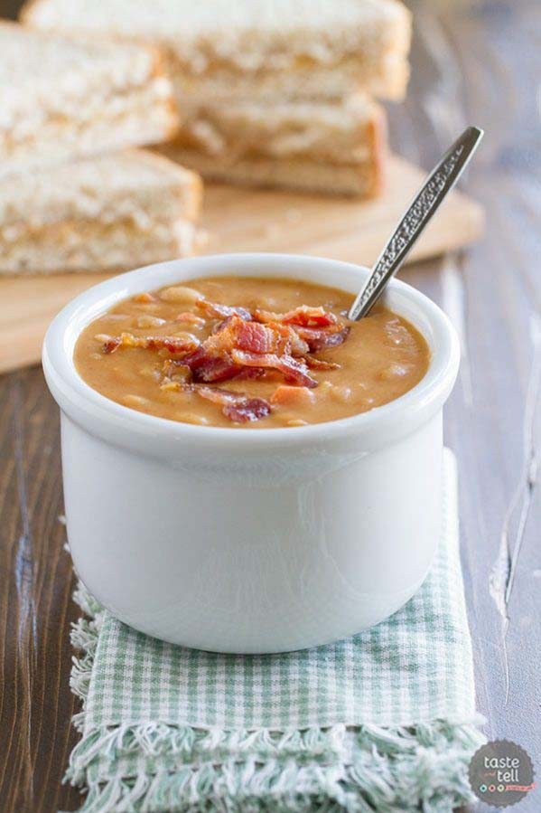 Bean And Bacon Soup #meal #pantry #plan #trendypins
