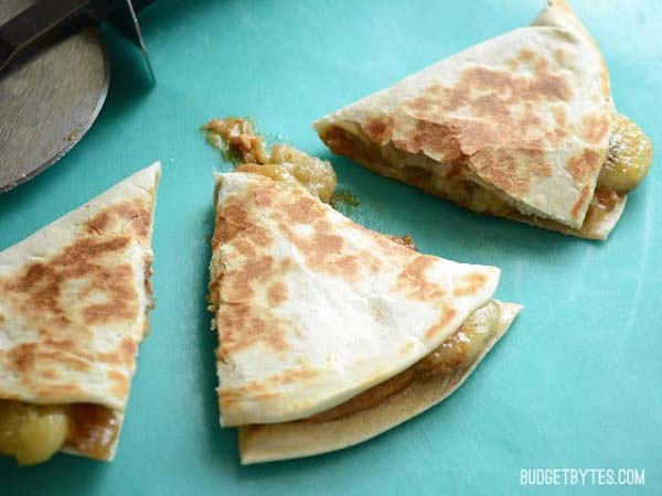 Caramelized Banana And Peanut Butter Quesadillas #pantry #staple #recipes #trendypins