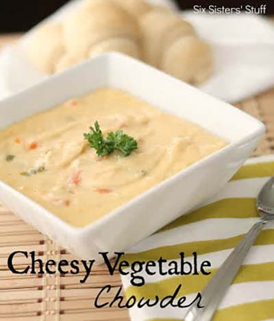 Cheesy Vegetable Chowder #meal #freezer #recipes #trendypins