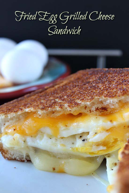 Fried Egg Grilled Cheese Sandwich #pantry #staple #recipes #trendypins