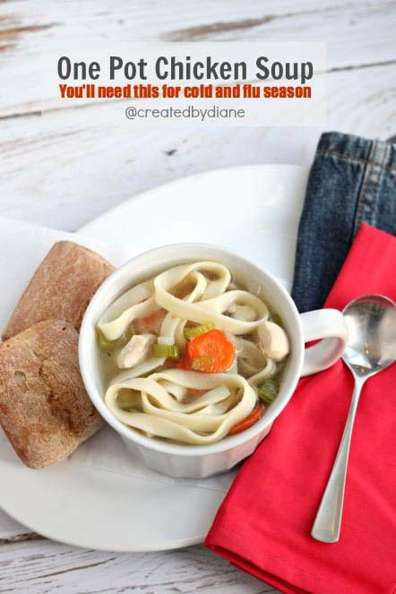 One Pot Chicken Soup #meal #freezer #recipes #trendypins