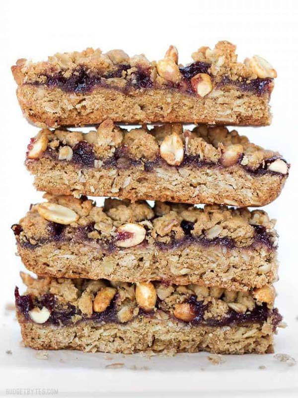 Peanut Butter and Jelly Bars #pantry #staple #recipes #trendypins
