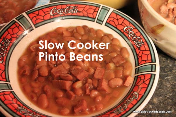 Slow Cooker Pinto Beans #meal #freezer #recipes #trendypins
