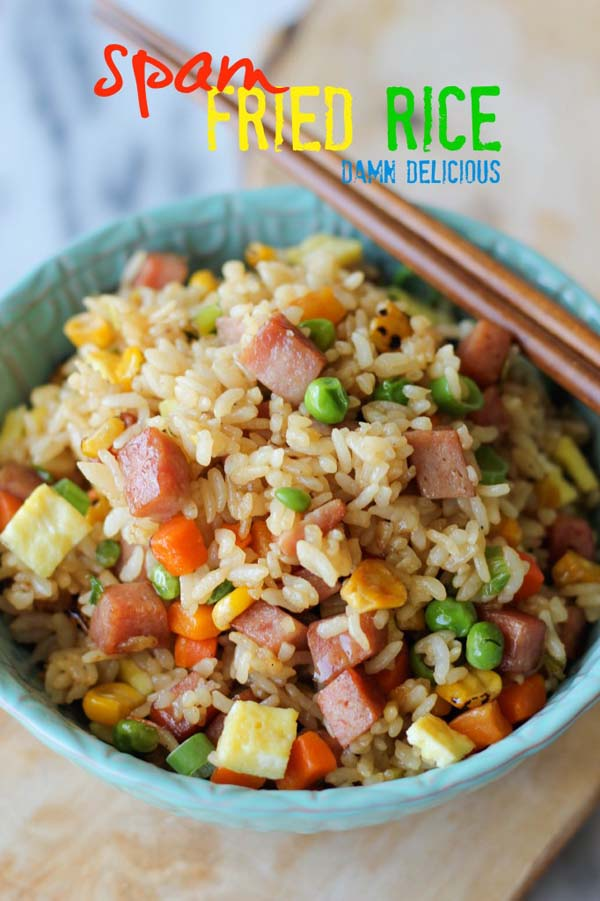 Spam Fried Rice #meal #pantry #plan #trendypins