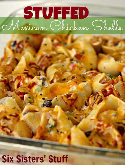 Stuffed Mexican Chicken Shells #meal #freezer #recipes #trendypins