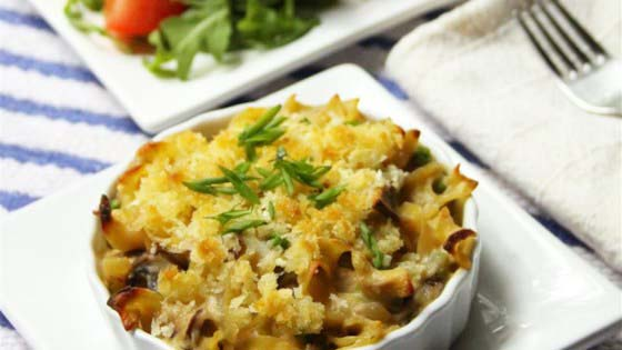 Tuna Noodle Casserole from Scratch #pantry #staple #recipes #trendypins