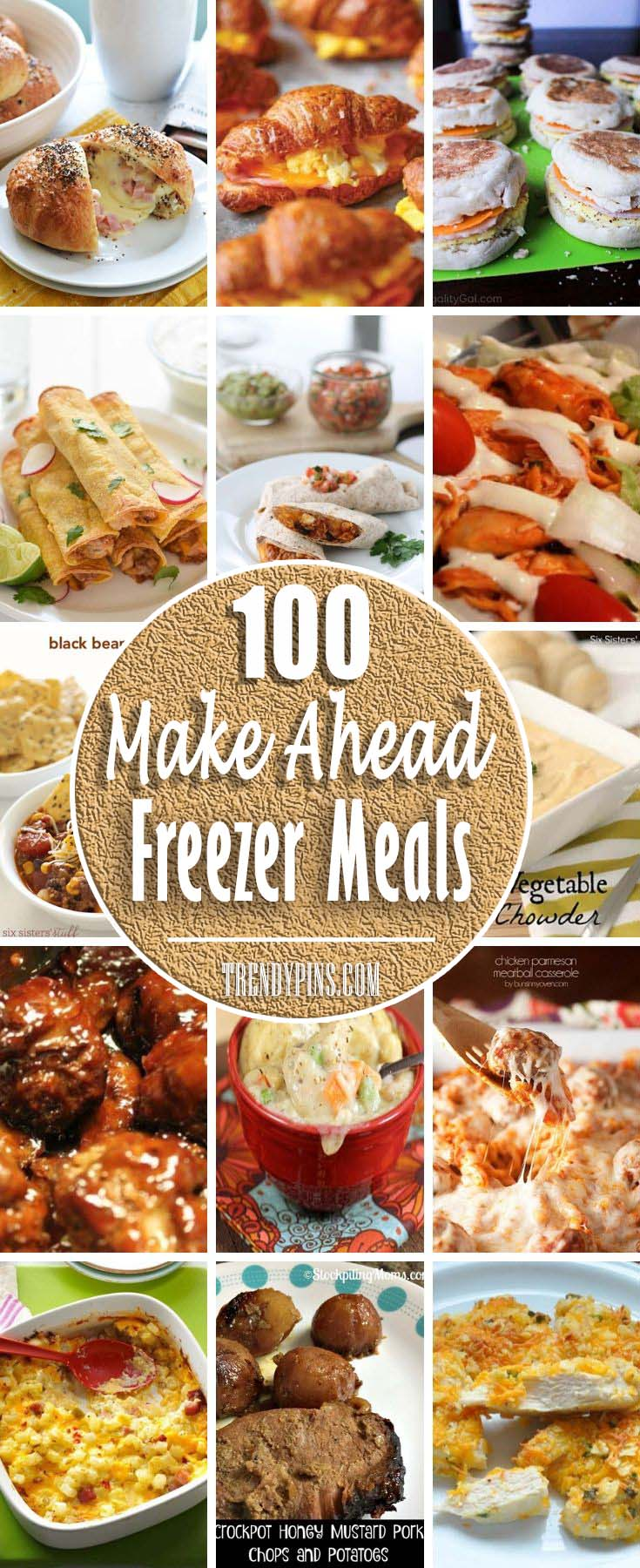 It is time to use your imagination. When you're at the right mood, make big batches of recipes that freeze well, and stow away leftovers for lazier nights. #meal #freezer #recipes #trendypins