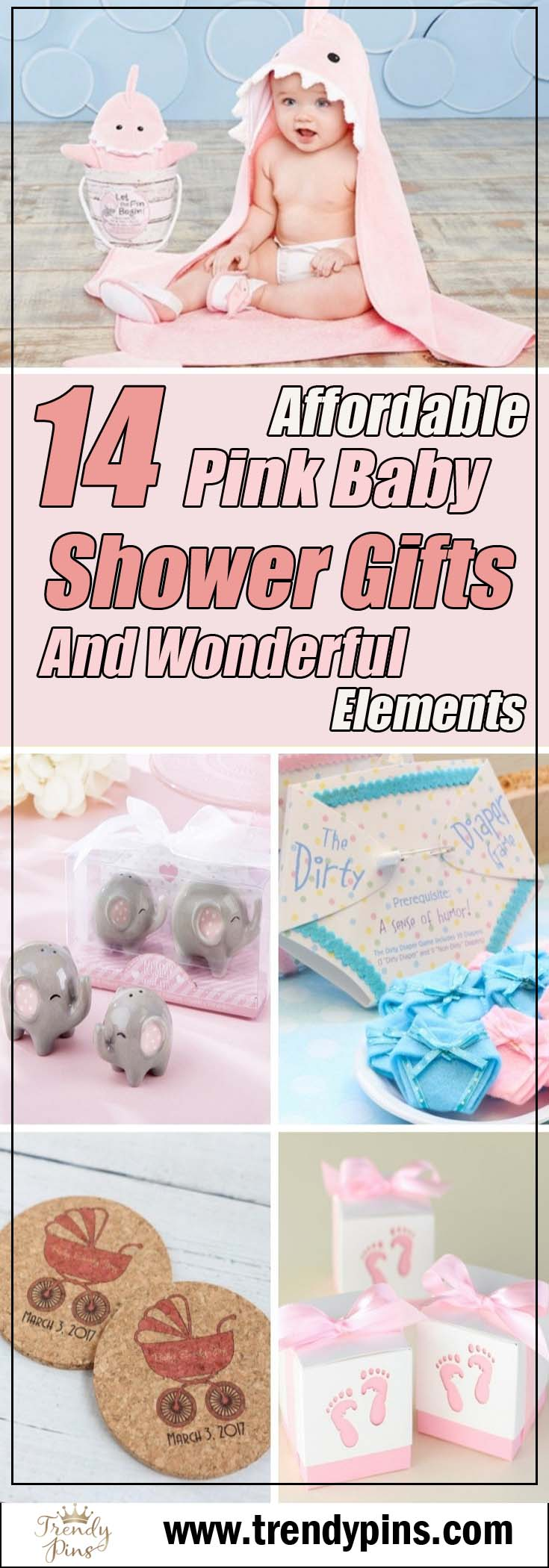 14 Affordable Pink Baby Shower Gifts And Wonderful Elements