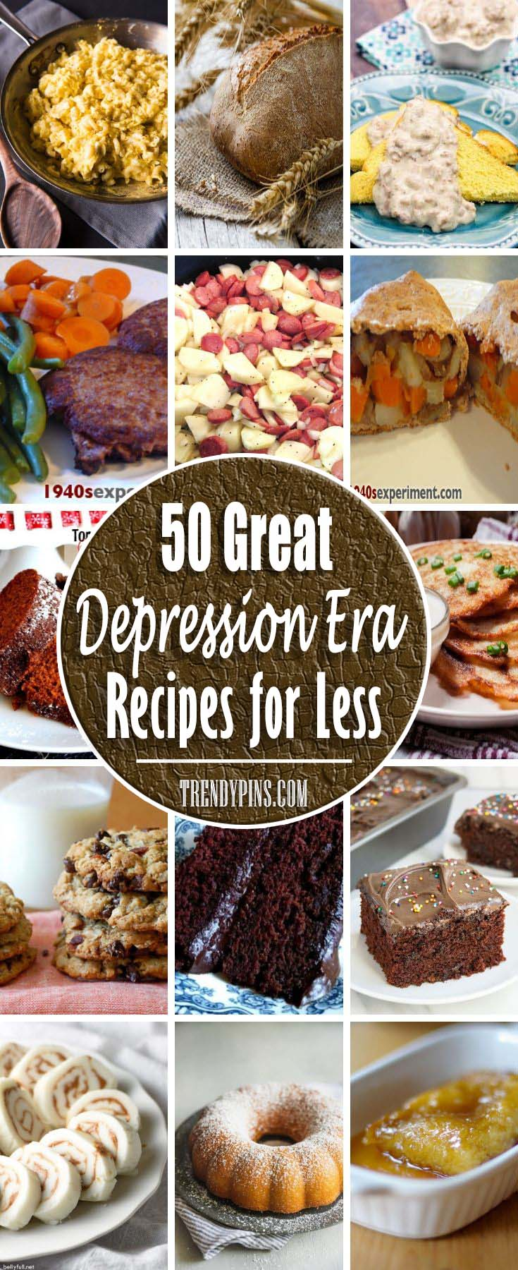 9 Great Depression Era Recipes for Less - Trendy Pins