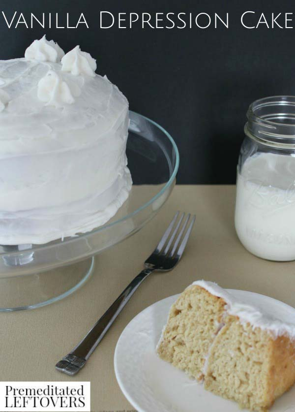 Vanilla Depression Cake #recipes #depression era #meals #trendypins