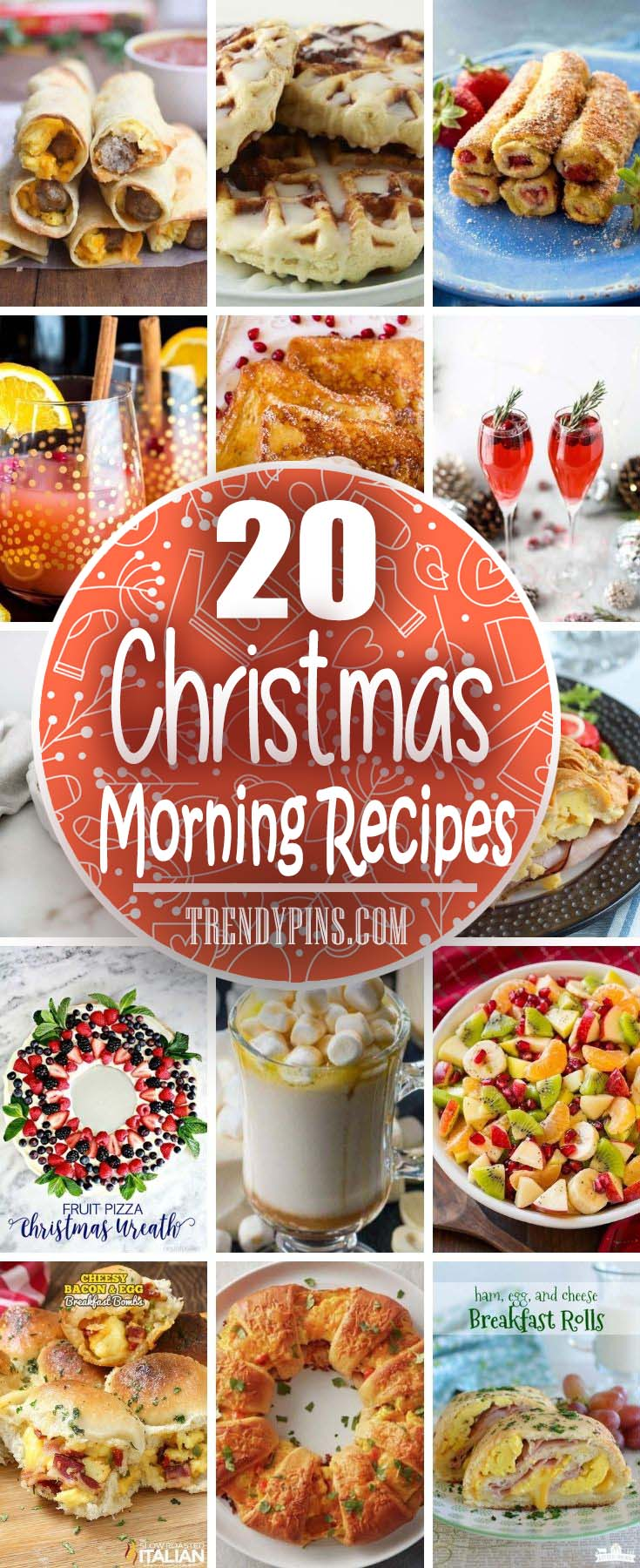 20 Christmas Morning Recipes #Christmas #breakfast #sandwiches #trendypins