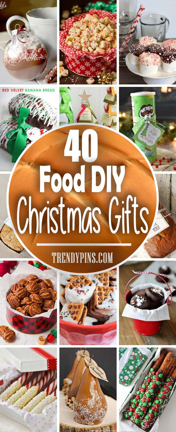 40 Food Diy Christmas Gifts #Christmas #food #gifts #trendypins