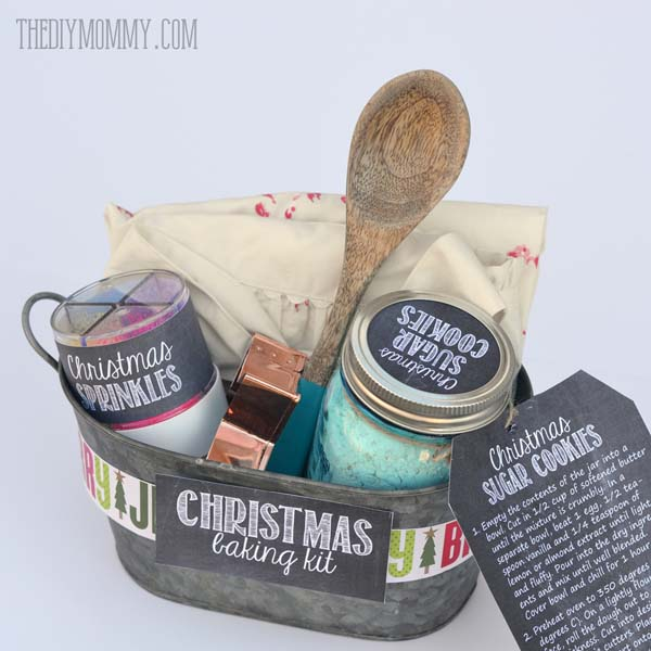 Christmas Baking Kit (& 5 Other Themed Gift Basket ideas) #Christmas #food #gifts #trendypins