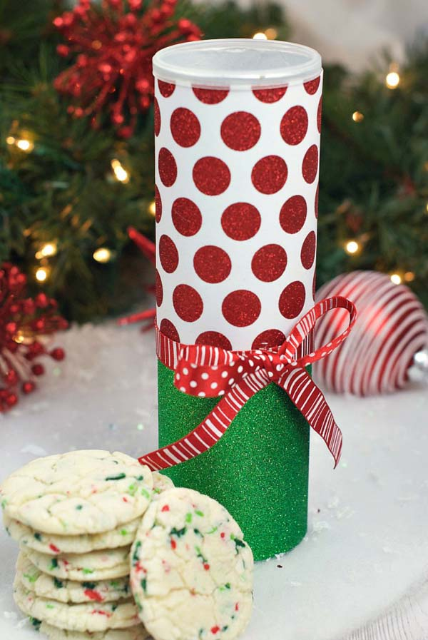 Christmas Cookie Cans #Christmas #food #gifts #trendypins