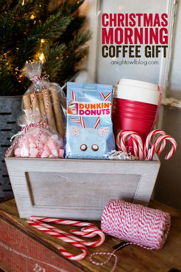 Christmas Morning Coffee Gift Basket #Christmas #food #gifts #trendypins