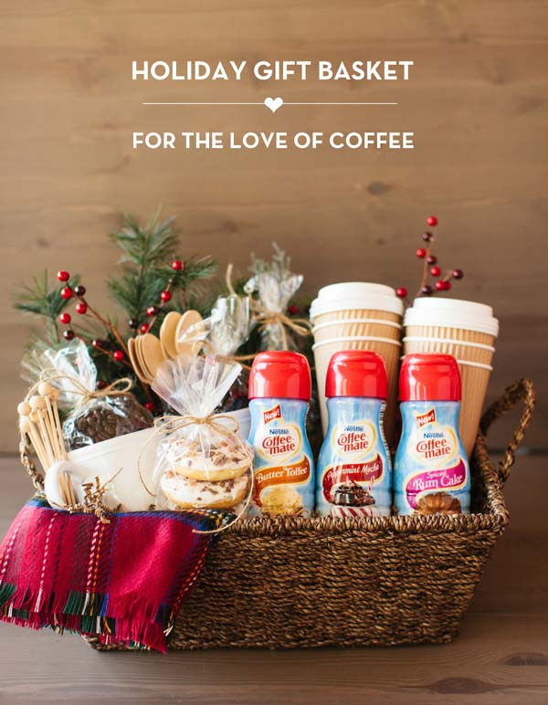 Coffee Gift Basket #Christmas #food #gifts #trendypins