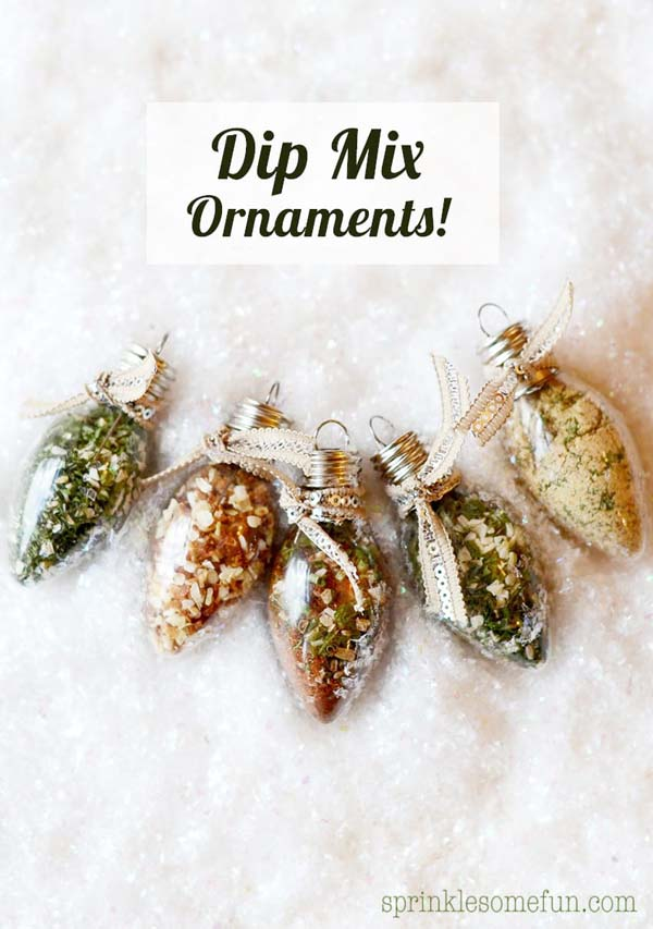 Dip Mix Ornaments #Christmas #food #gifts #trendypins