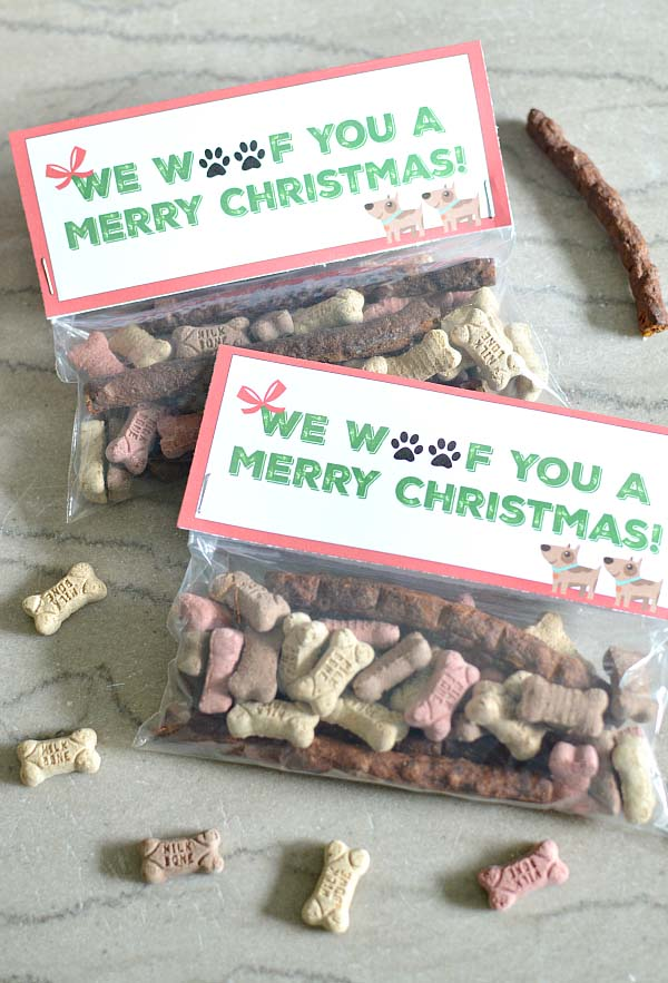 Dog Treat Christmas Gift #Christmas #food #gifts #trendypins