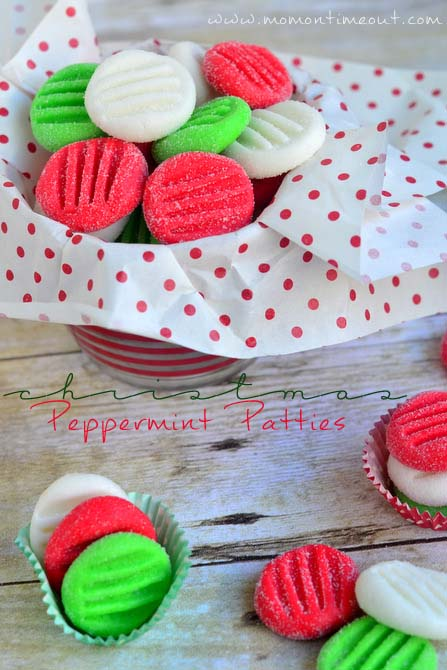 Easy Christmas Peppermint Patties #Christmas #food #gifts #trendypins