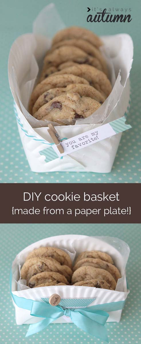 Easy DIY Cookie Basket #Christmas #food #gifts #trendypins