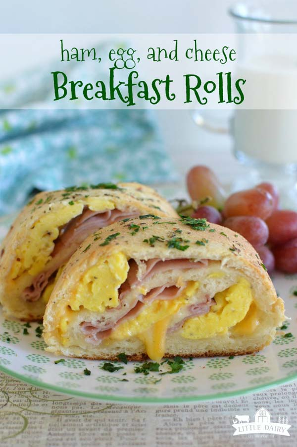 Ham, Egg and Cheese Breakfast Rolls #Christmas #breakfast #sandwiches #trendypins