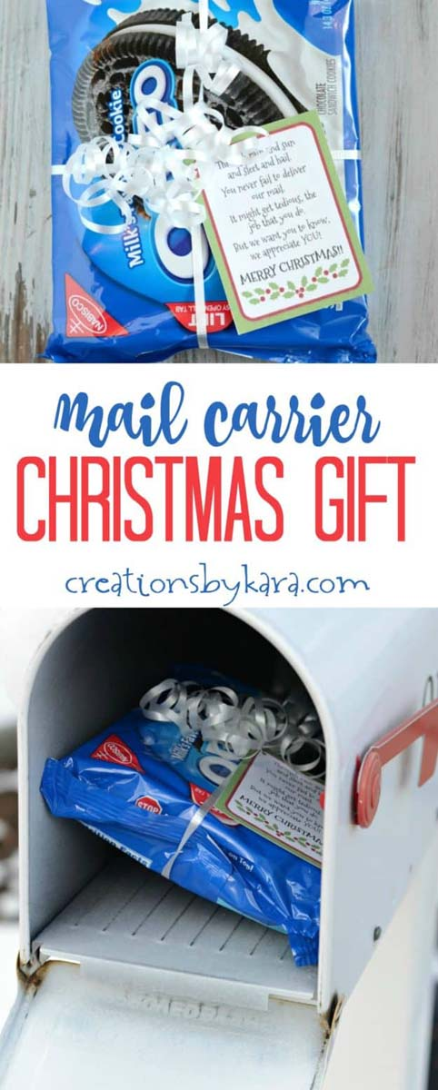 Mail Carrier Gift Idea #Christmas #food #gifts #trendypins