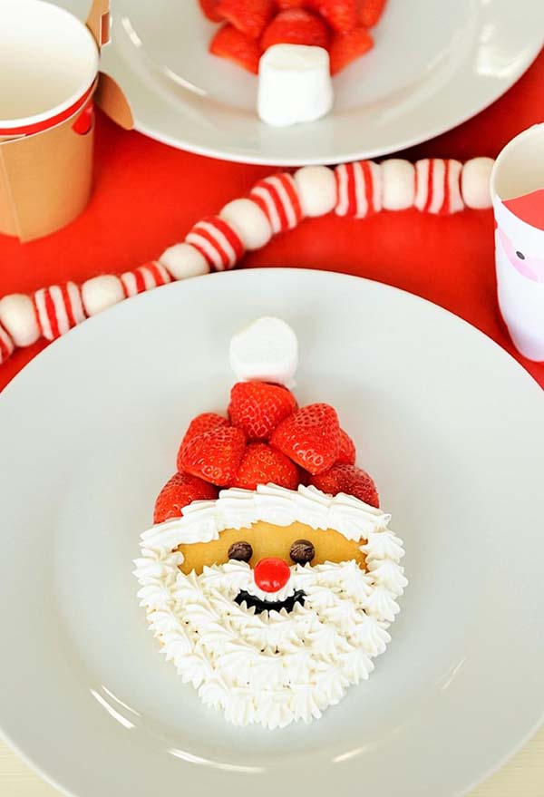 Santa Pancakes #Christmas #breakfast #recipes #trendypins