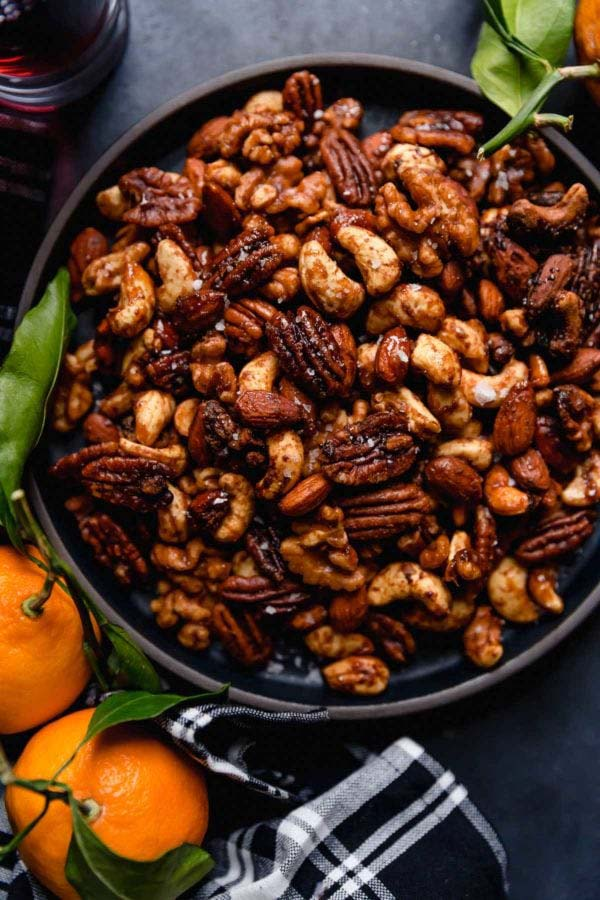Slow Cooker Spiced Nuts #Christmas #food #gifts #trendypins