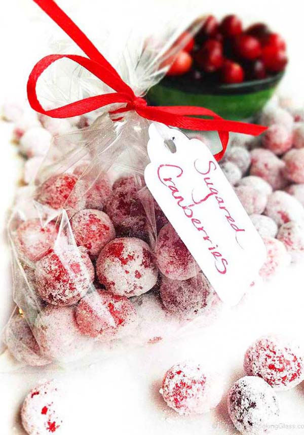 Sugared Cranberries #Christmas #food #gifts #trendypins