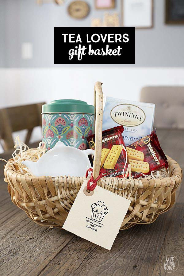 Tea Lover's Gift Basket #Christmas #food #gifts #trendypins