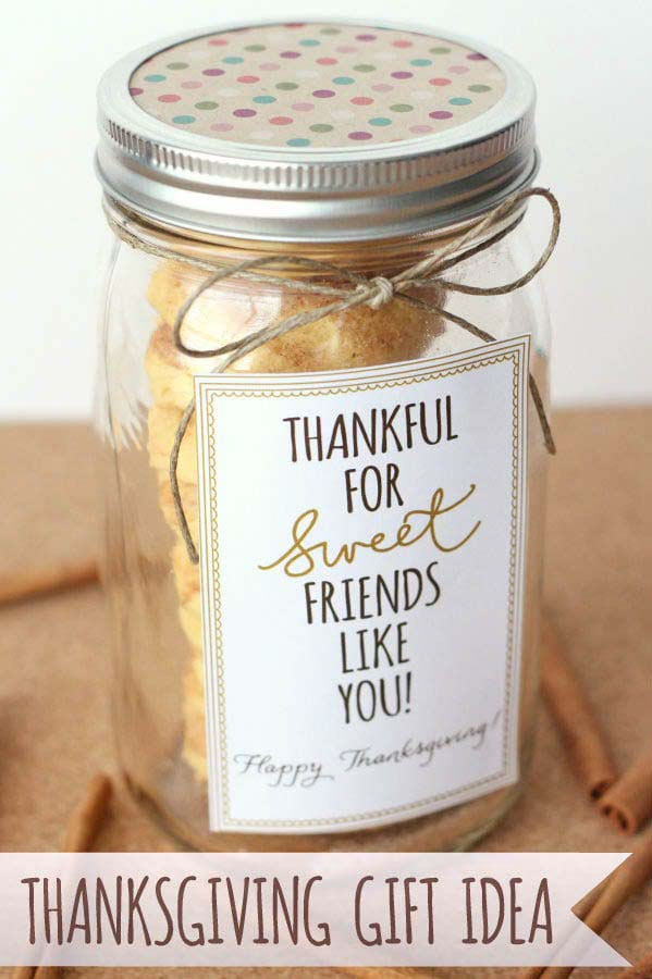 Thankful for Sweet Friends Gift Idea #Christmas #food #gifts #trendypins