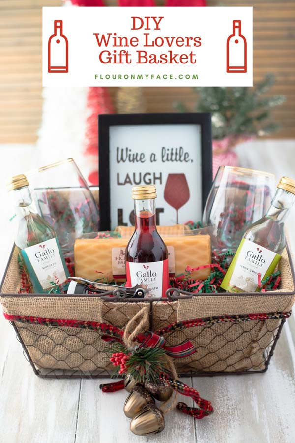 Wine Gift Basket #Christmas #food #gifts #trendypins