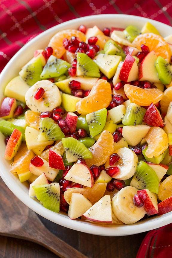 Winter Fruit Salad #Christmas #breakfast #trendypins