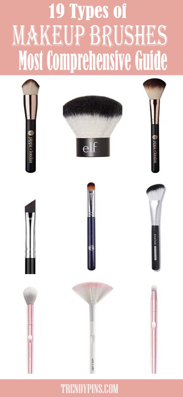 19 Types Of Makeup Brushes #makeup #beauty #trendypins
