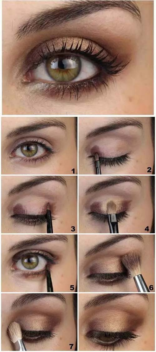 Brown And Gold Soft Eye Makeup #makeup #beauty #trendypins
