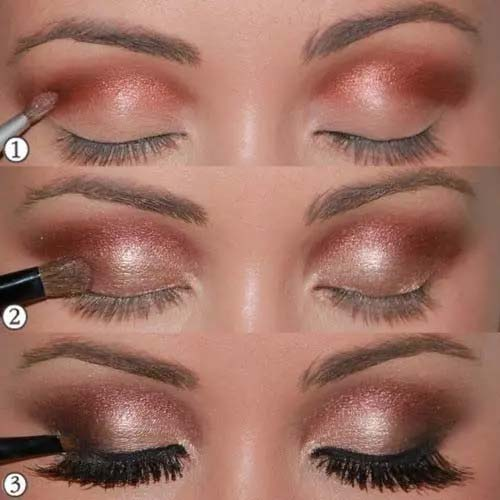 Sultry Copper Rose Gold Eyes #makeup #beauty #trendypins