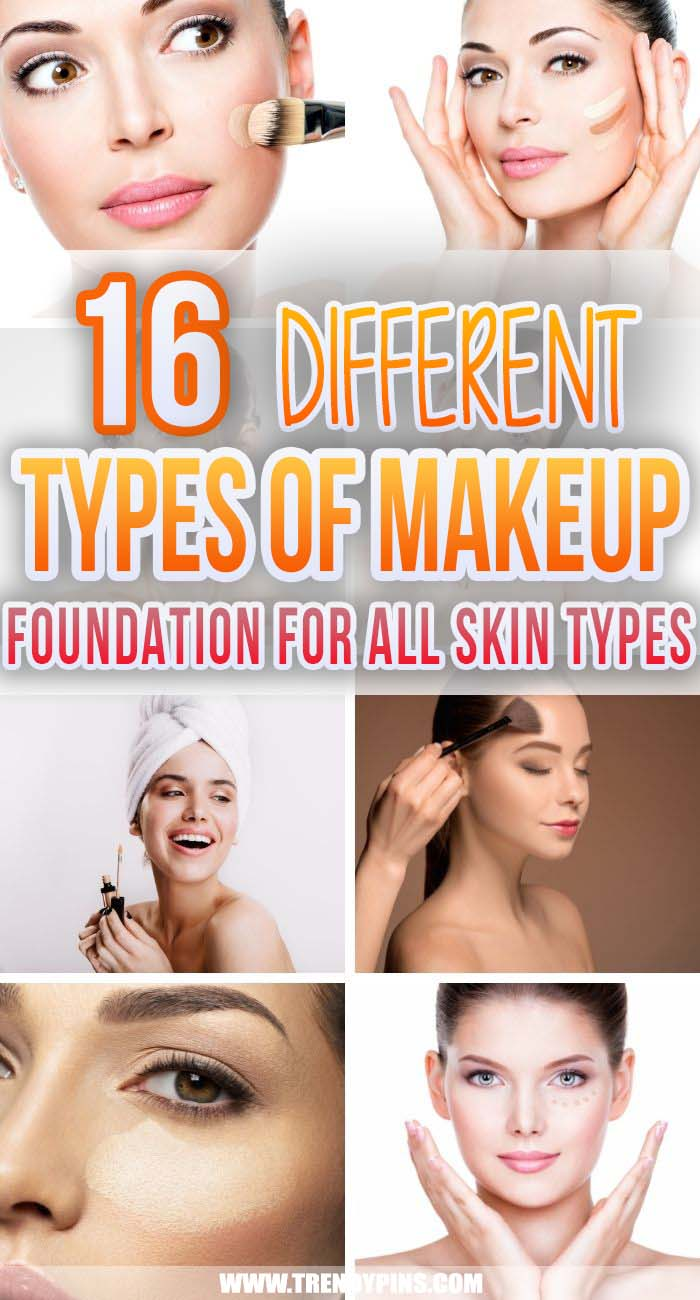 16 Different Types Of Makeup Foundation #makeup #beauty #trendypins