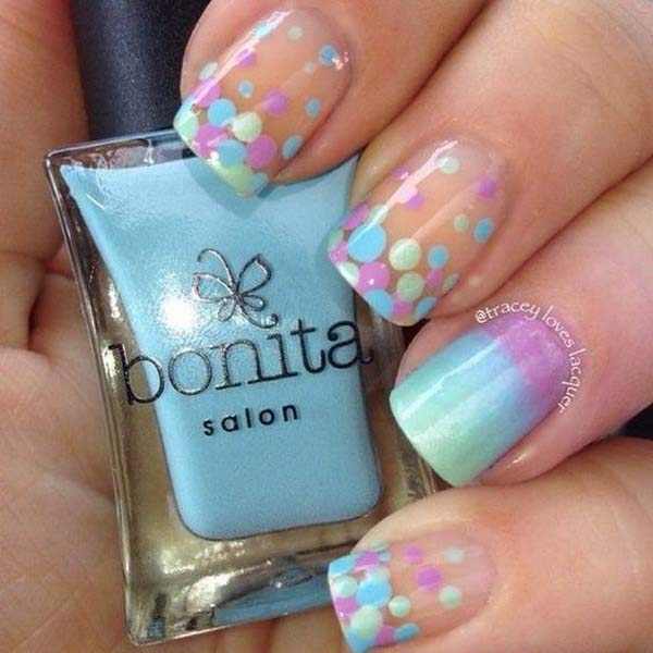 Gradient and Dotted Nail Art Designs #polkadotnails #trendypins
